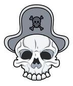 Crâne de pirate oeil tatouage patché — Vecteur