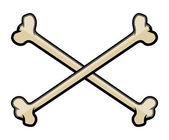 Crossed Bones - Vector Cartoon Illustration — Stock Vector