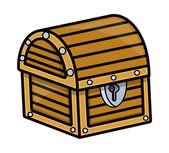 Treasure Box - Vector Cartoon Illustration — Stock Vector