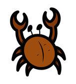 Crab Cartoon — Stock Vector