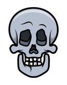 Skull Cartoon Tattoo - Vector Cartoon Illustration — Stock Vector
