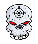 Creepy Skull - Vector Cartoon Illustration — Stock Vector
