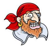 Creepy Pirate - Vector Cartoon Illustration — Stock Vector