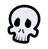 Cranio di cartone animato — Vettoriale Stock