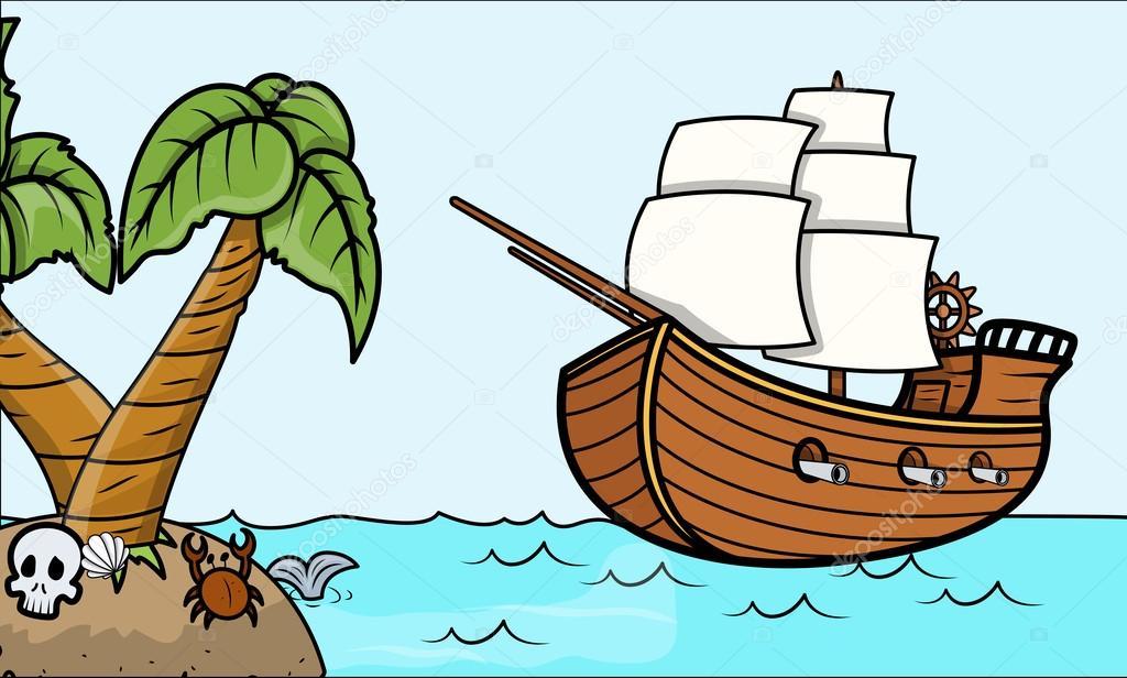 как рисовать лодку карандашом