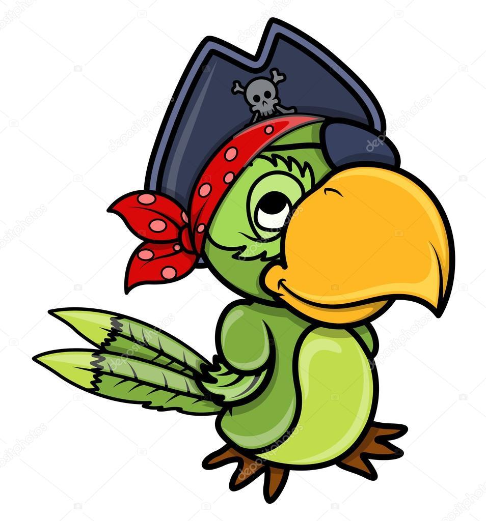Evil parrot cartoon