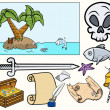 Pirate Illustrations Set — Stock Vector