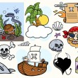 Stock Vector: Pirate Story Cartoon Vectors