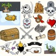 Stock Vector: Pirate Vector Illustrations & Icons