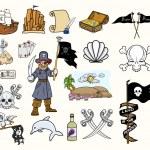 Pirates Cartoon Vectors Set — Stock Vector #29884585