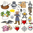 Stock Vector: Pirate Cartoons Vectors