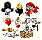 Pirates Cartoons — Stock Vector