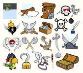 Pirate Cartoon Vectors Set — Stock Vector