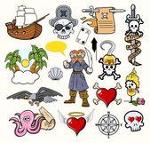 Pirat bajki wektorów — Wektor stockowy