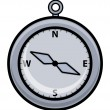 Vecteur: Cartoon Compass - Vector Illustration