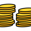 Gold Coins Stack - Vector Illustration — Stock Vector