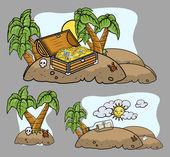 Cartoon Islands — Stock Vector