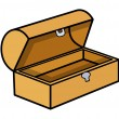 Empty Treasure Box - Cartoon Vector Illustration — Stockvectorbeeld