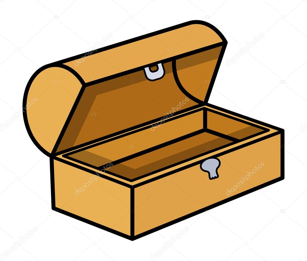 empty treasure box cartoon vector illustration stock treasure chests clip art treasure box clip art