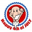 Very Funny Bald Uncle Sam - 4th of July Vector Illustration — Stock Vector #30782501