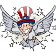 Uncle Sam as a bird - 4th of July Vector — Stock Vector