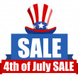 4th of July Sale banner — Stock Vector