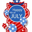 Happy 4th of July Greeting Banner — Stock Vector