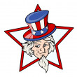 Uncle Sam Face — Stock Vector