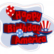 Happy birthday america vector — Stock Vector #30783205
