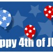 Happy 4th of july background — Stock Vector #30783221