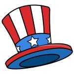 Uncle sam cartoon hat — Stock Vector #30783271