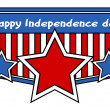 Постер, плакат: Happy Independence Day Clip Art