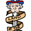 Land of the Free - Uncle Sam Vector Illustration — Stock Vector