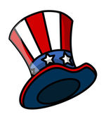 Uncle Sam Hat Vector — Stock Vector