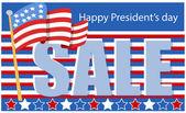 President day sale — Stock Vector
