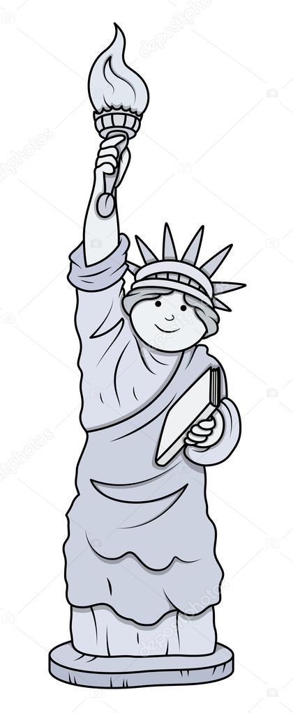statue de dessin anim 233 de vecteur de libert 233 image