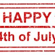 Happy 4th of july grunge stamp — Stock Vector #30895175