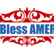 God Bless America - 4th of july Vector — Stock Vector