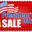 President Day Sale — Stock Vector