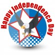 Happy Independence Day - 4th of july vector — Stock Vector