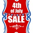 4th of july sale banner vector — Stock Vector