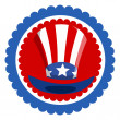 Uncle Sam Hat - 4th of july Vector — Stock Vector