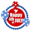 Happy 4th of july - with dove and balloons Vector — Stock Vector #30895857