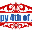 4th of july Vector Greeting Text — Stock Vector