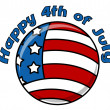 Happy 4th of july circular icon — Stock Vector