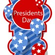 Presidents day background — Stock Vector