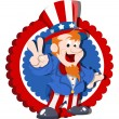 Uncle sam vector — Stock Vector