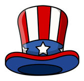 Cartoon uncle sam cap — Vettoriale Stock