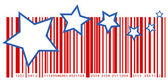 4th of july shopping themed barcode vector — Stock Vector