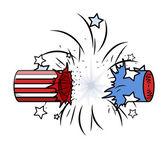 Bursted cracker - 4th of july celebration — Stock Vector